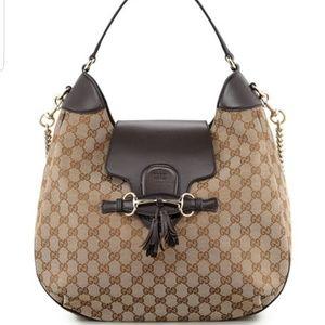 Authentic Gucci Emily GG chain strap hobo